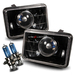 4x6 Projector Headlights - Black H4651 H4652 H4656 H4666