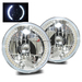"7"" H6024 Round LED Strip Headlights - Chrome"